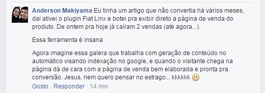 prova social do plugin fiat linx